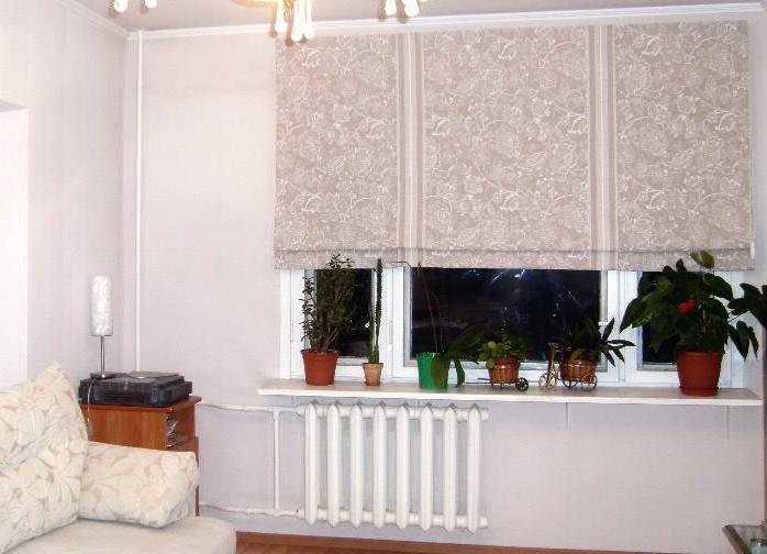 Японские шторы для зала