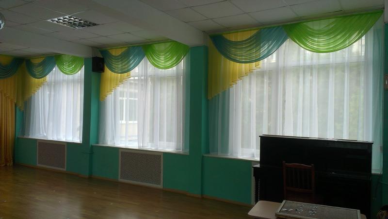 Шторы в музыкальный зал детского сада своими руками