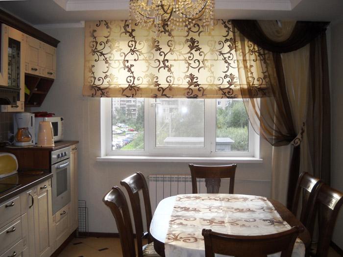 фото кухня шторы