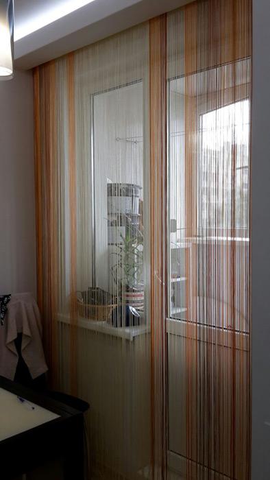 Как сделать шторы нитями 531