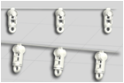 "Глайдер на леске ""ВОЛНА"" (за метр) для фиксированной складки"